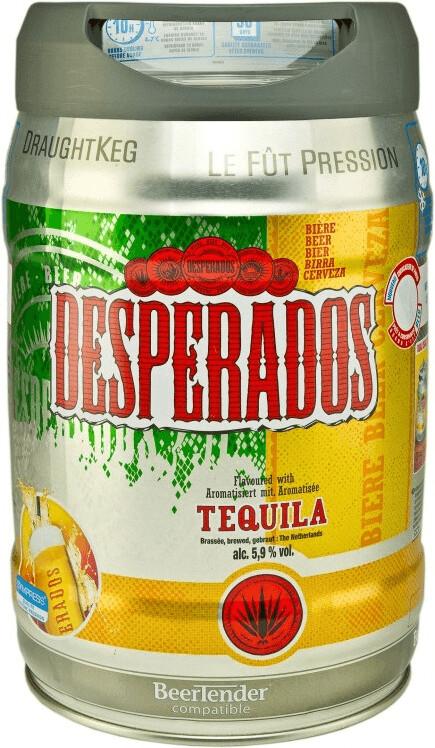 Desperados Bier mit Tequila Partyfass 5l