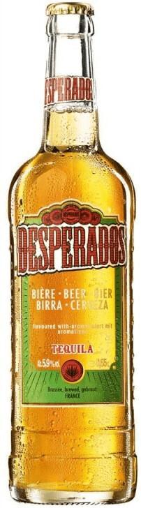 Vorschaubild von Desperados Bier mit Tequila Flavor
