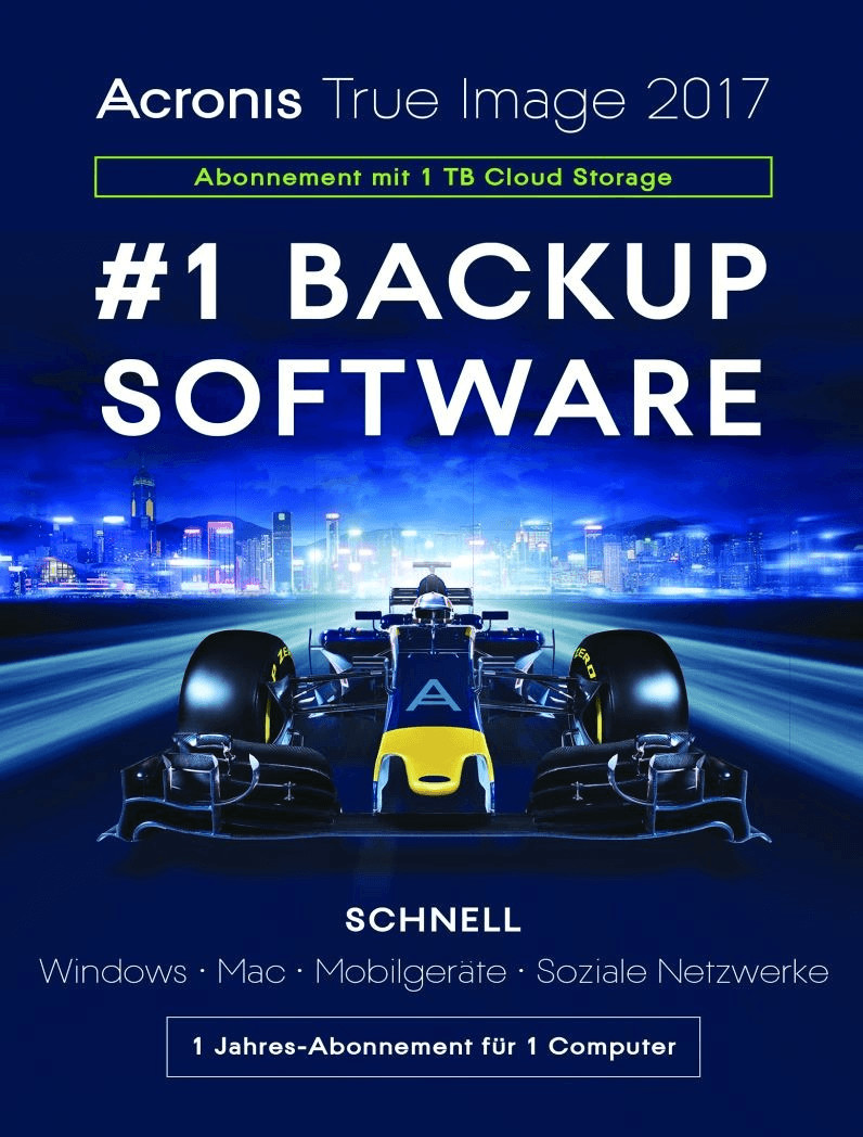 Image of Acronis True Image 2017 - 1TB Cloud (5 Devices) (1 Year) (DE)