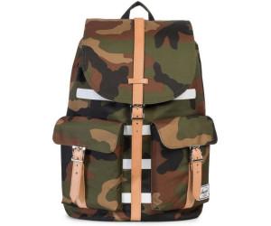 cd346f2a7bceb Herschel Dawson Laptop Backpack woodland camo stripe veggie tan leather  (10233)