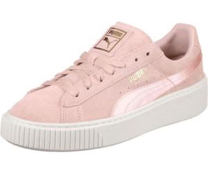 puma – sneaker aus wildleder und satin mit plateau in rosa