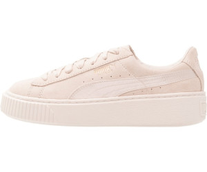 puma damen sneakers suede platform mono satin beige 37