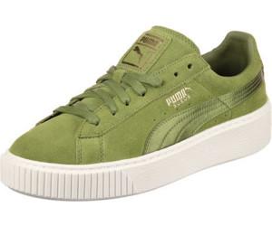Details zu Puma Suede Platform Satin Sneaker Damen Freizeitschuhe schwarz weiß 365828 05