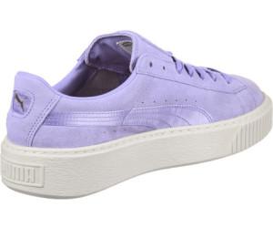 Puma Suede Platform Mono Satin Wmns sweet lavender/whisper white/tea ...