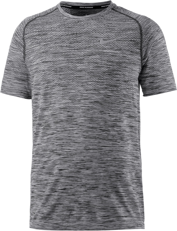 Image of Nike Dry Knit Men's Short-Sleeve Running Top heather/black