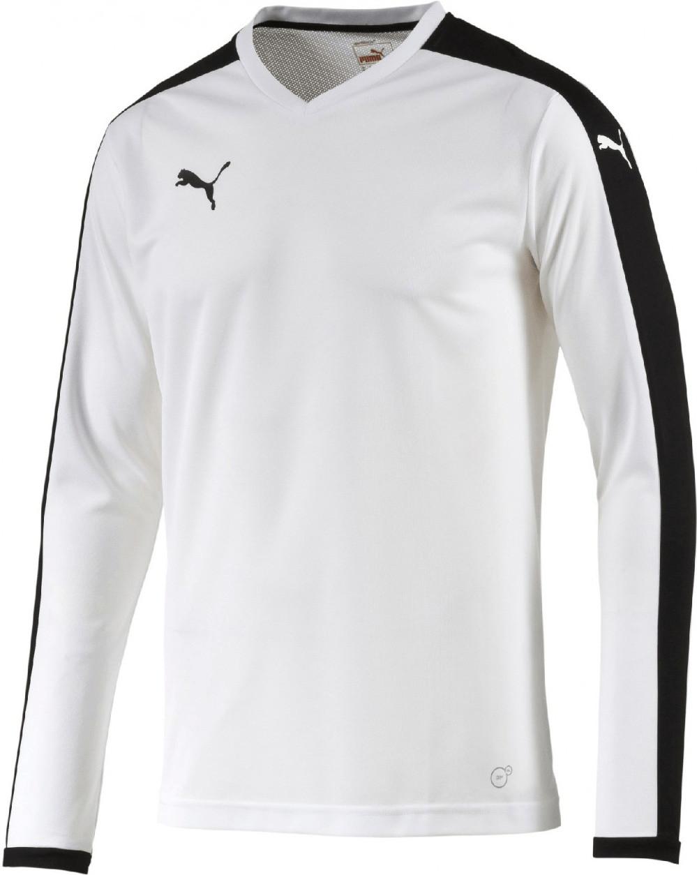 Puma Fußball Longsleeve Trikot white/black