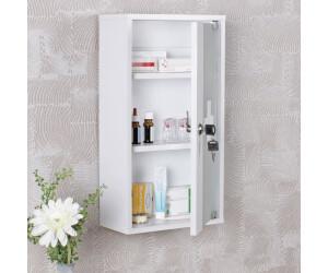 wohnling erste hilfe schrank abschlie bar wei 48x26x12cm. Black Bedroom Furniture Sets. Home Design Ideas