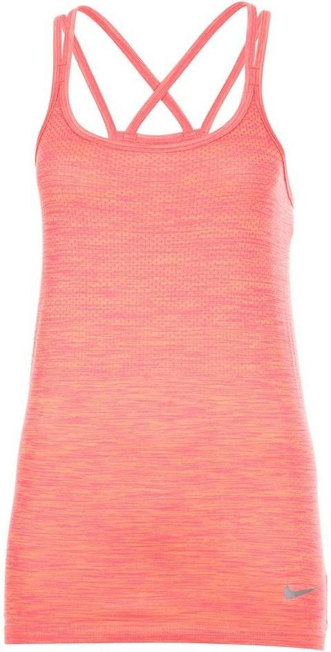 Image of Nike Dry Knit Women's Running Tank sunset glow/racer pink