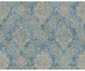 33607-5-22A 3 Rollen AS Secret Garden Blau,Gold Vliestapete Barock 0,69€//M