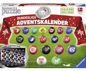 ravensburger adventskalender bundesliga ab 9 99. Black Bedroom Furniture Sets. Home Design Ideas