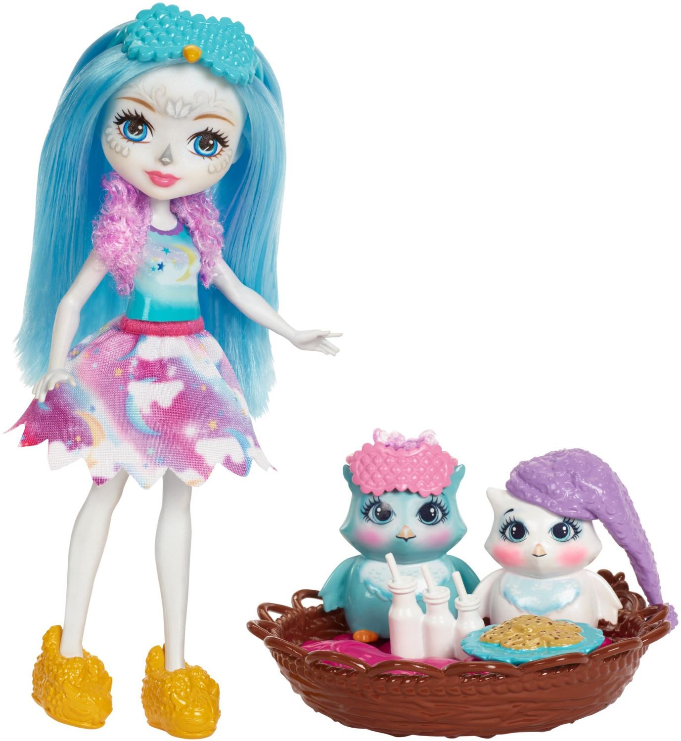 Enchantimals Mattel: miss koala Mattel-mini-poupee-enchantimals-ohana-chouette-soiree-pyjama
