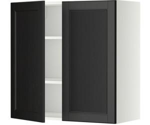 ikea metod wandschrank mit b den und 2 t ren 80x80cm ab 144 00 preisvergleich bei. Black Bedroom Furniture Sets. Home Design Ideas