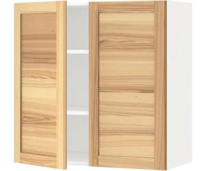 ikea metod wandschrank mit b den und 2 t ren 80x80cm ab 97 00 preisvergleich bei. Black Bedroom Furniture Sets. Home Design Ideas