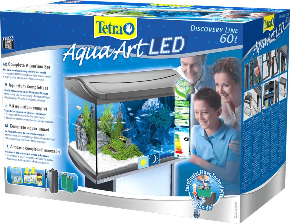 Tetra AquaArt LED Aquarium-Komplettset 60 L weiß