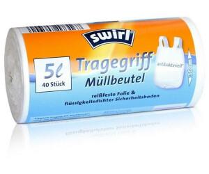 7x Swirl Tragegriff Müllbeutel 5L 40 stk.//Rolle