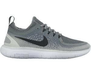 Womens Wolf Grey & Cool Grey & Volt & Black Nike Free RN