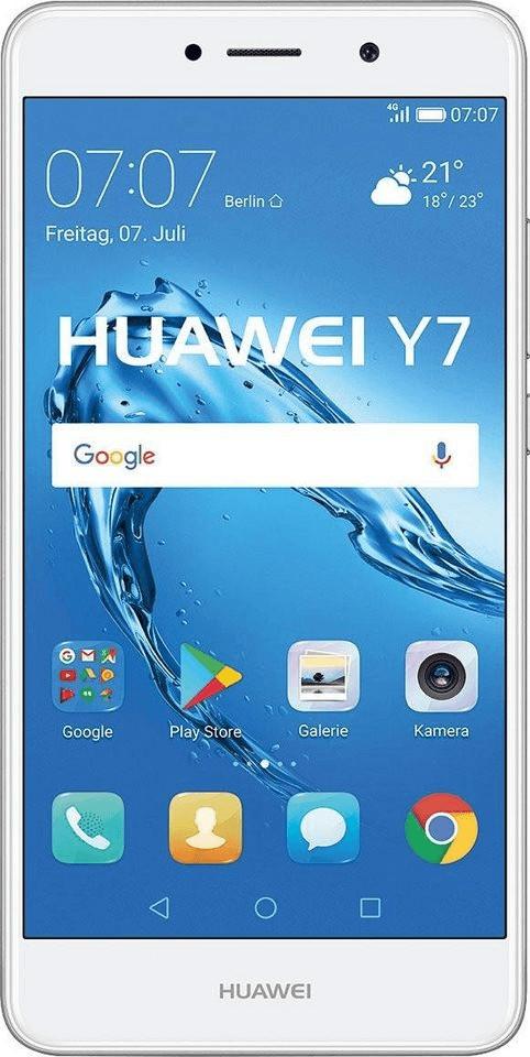 Huawei Y7 Smartphone Hybrid-Slot 16GB 2GB 14cm (5.5 Zoll) 12MP Android™ 7.0 NEU