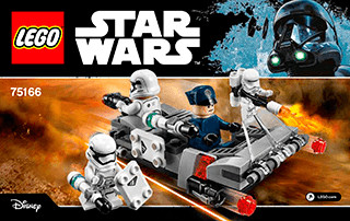 LEGO Star Wars - Pack de combat le Speeder de transport du Premier Ordre (75166)
