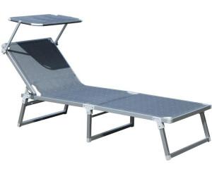 bel sol aluminium strandliege mit sonnendach anthrazit ab 104 90 preisvergleich bei. Black Bedroom Furniture Sets. Home Design Ideas