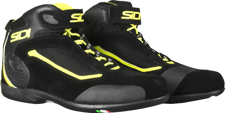 Zapatos Moto Urban Sidi Gas Negro Amarillo Fluo