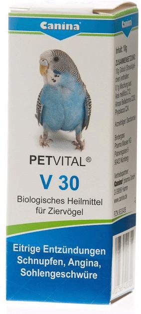 Canina PETVITAL V 30 Globuli für Vögel 10 g
