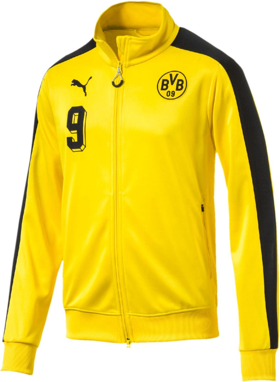 Puma BVB T7 Jacke Nr. 9 cyber yellow/puma black
