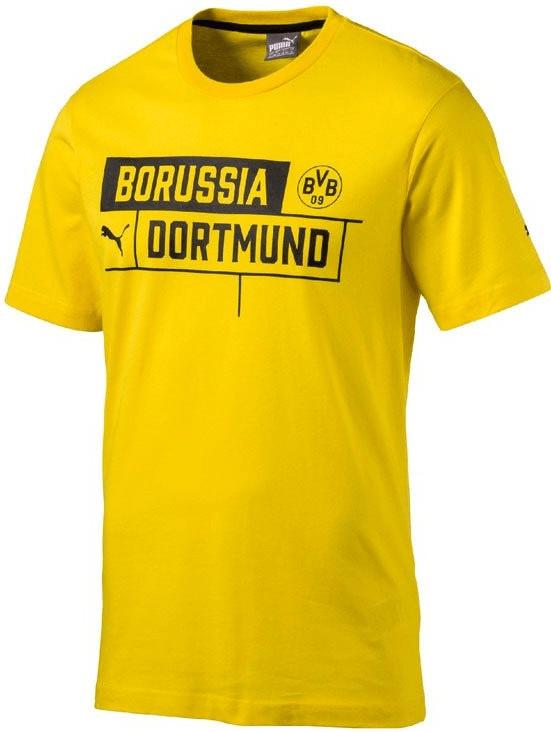 Puma BVB Borussia Tee T-Shirt Kinder cyber yellow