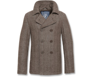 Brandit Pea Coat (3109) brown heringbone