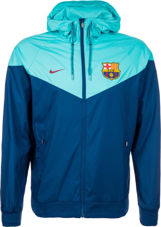 Nike FC Barcelona Windrunner Kapuzenjacke blau/...