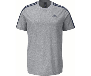 Adidas Herren T Shirt Linear 3 Streifen Tee Core Heather