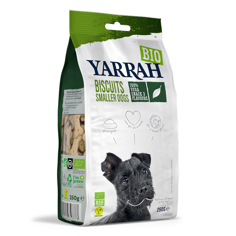 Yarrah Vegane Hundekekse für kleine Hunde 250g