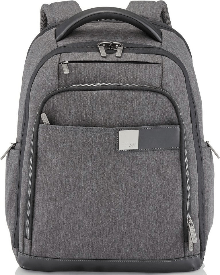 Titan Power Pack Laptop Backpack mixed grey