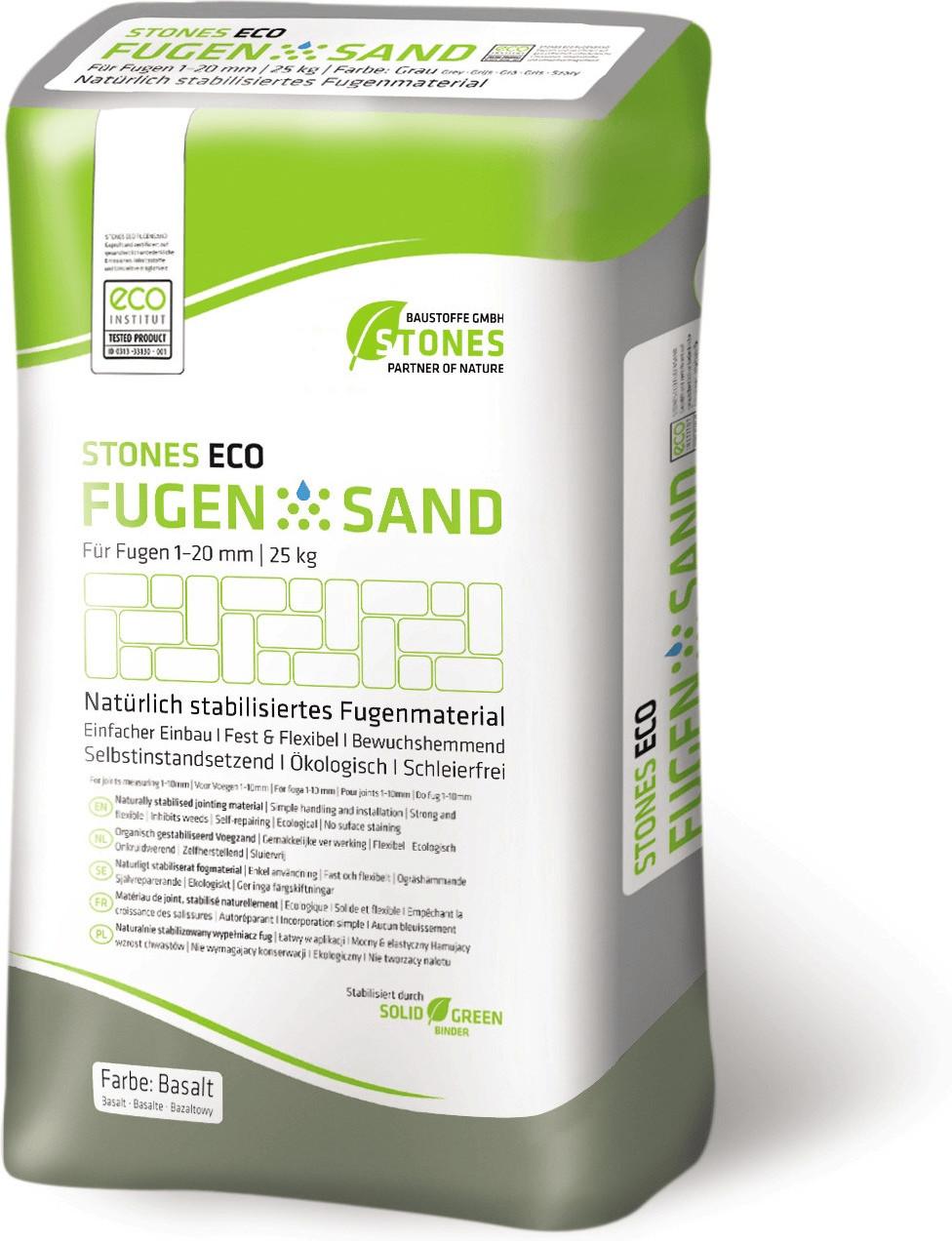 Stones Eco Fugensand 1-20mm 25kg basalt
