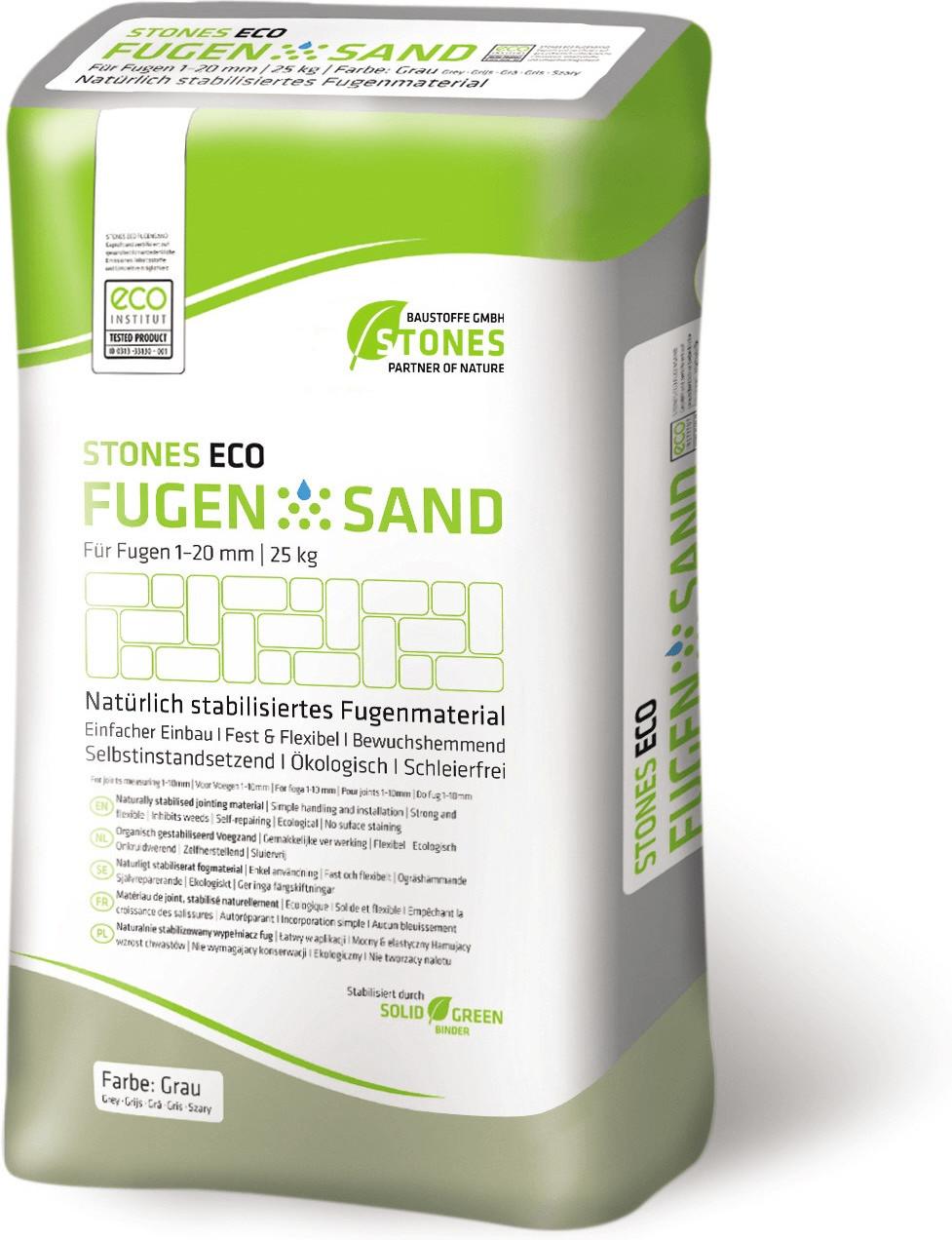 Stones Eco Fugensand 1-20mm 25kg grau