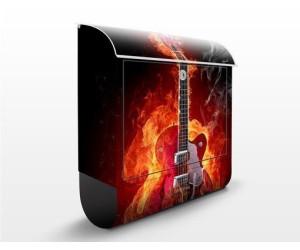 Apalis Gitarre in Flammen Schwarz