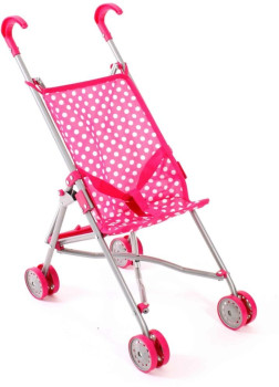 Bayer Chic 2000 Puppen Mini-Buggy weiß-pink TOP