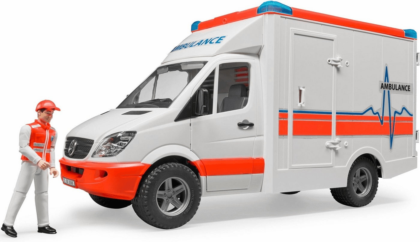Bruder MB Sprinter Ambulanz mit Sanitär (02536)