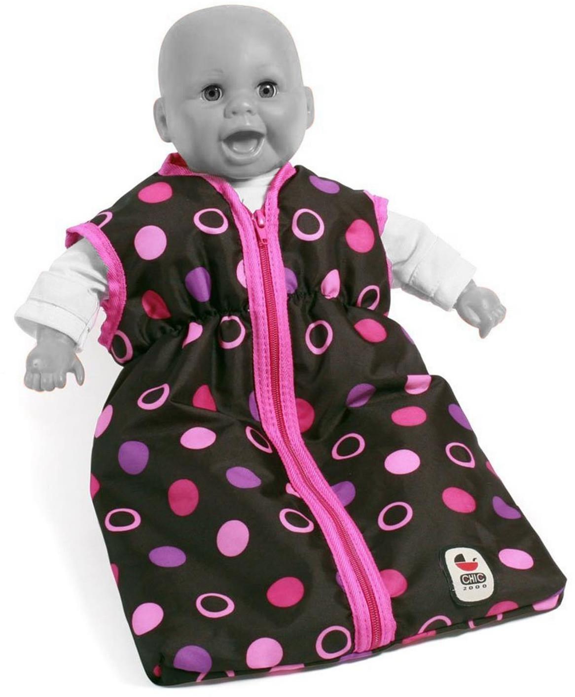 Bayer Chic 2000 Puppen Schlafsack Hot Pink Pearls NEU