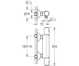 grohe precision start 34594000 ab 120 00 feb 2019 preise preisvergleich bei. Black Bedroom Furniture Sets. Home Design Ideas