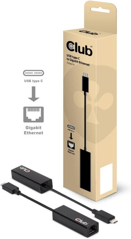 Image of Club3D USB C 3.1 Gigabit Ethernet Adapter CAC-1500