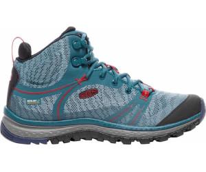Keen Damen Terradora Mid WP Trekking-& Wanderstiefel, Blau (Blue Coral/Fiery Red), 37 EU