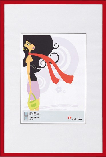 walther design Kunststoffrahmen New Lifestyle 30x40 rot