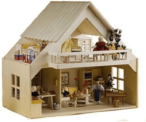 Rülke Puppenhaus mit Balkon