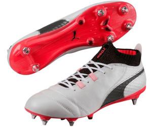 Puma One 17.1 MX SG, Chaussures de Football Homme, Blanc (White-Black-Fiery Coral), 42 EU