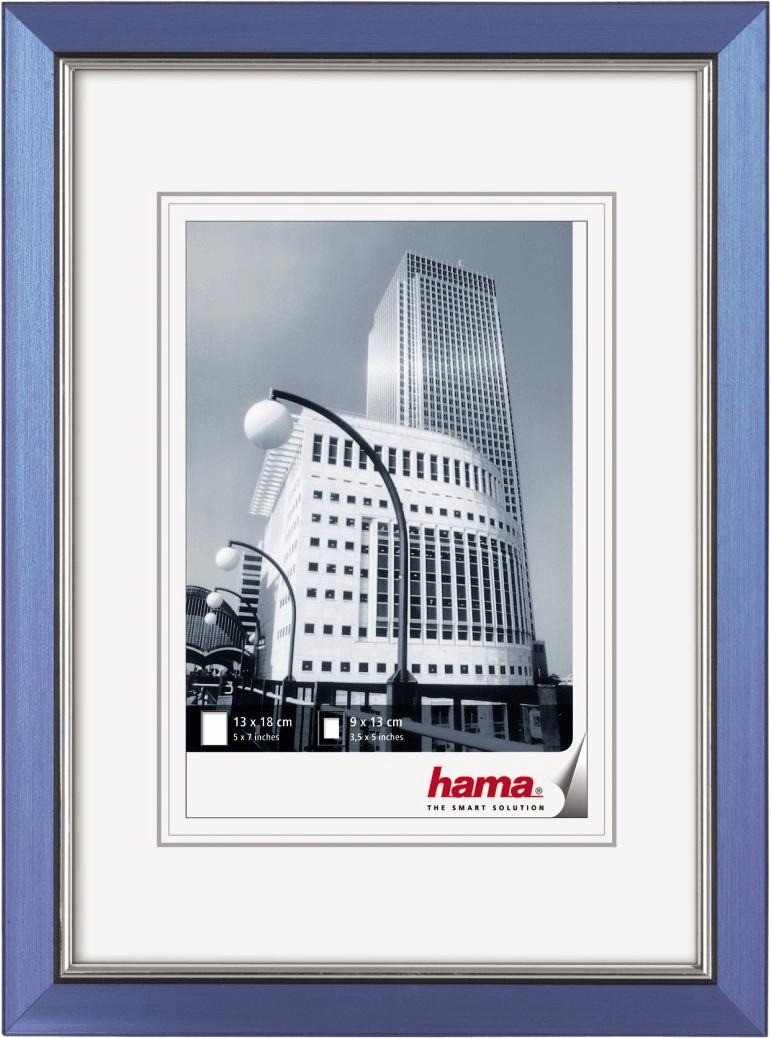 Image of Hama Plastic Picture Frame Valencia 10x15 blue