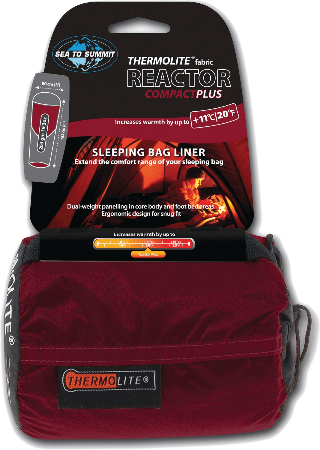 Sea to Summit Thermolite Reactor Liner (183x90, black/red)