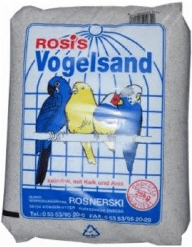 Rosis Vogelsand weiß 25 kg