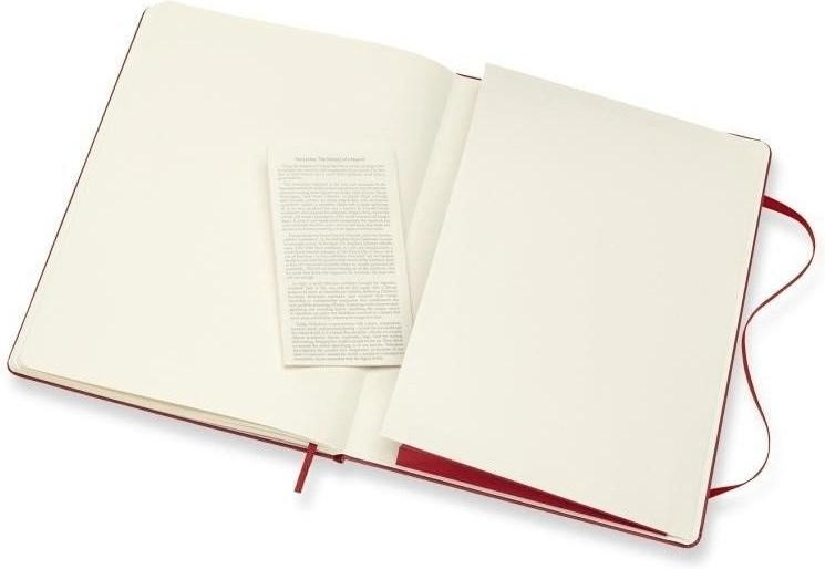 Moleskine Notizbuch Xlarge Hardcover Blanko scharlachrot