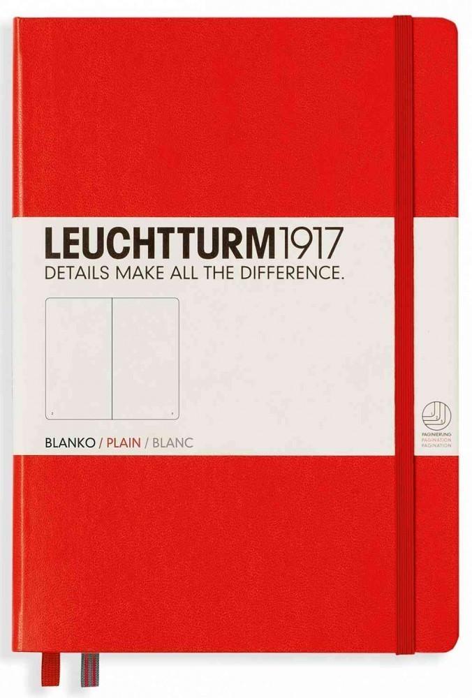 Leuchtturm1917 Notizbuch Medium Hardcover Blanko 249 nummerierte Seiten rot