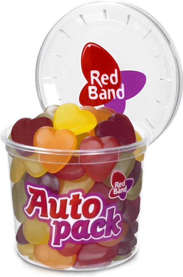 Red Band Fruchtgummi-Herzen Autopack (200g)
